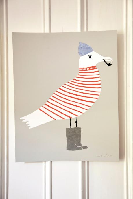 Sammy Seagull print brooklyn artist wayne pate