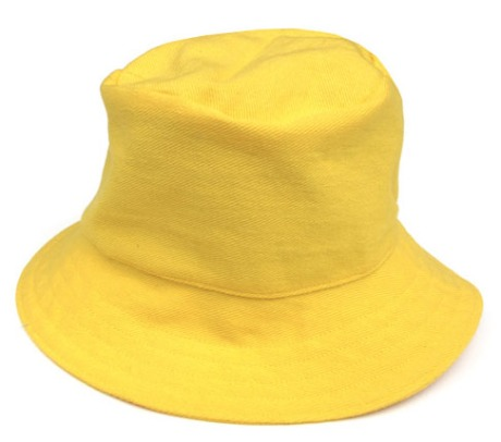 angela devine, bucket sun hat (yellow)
